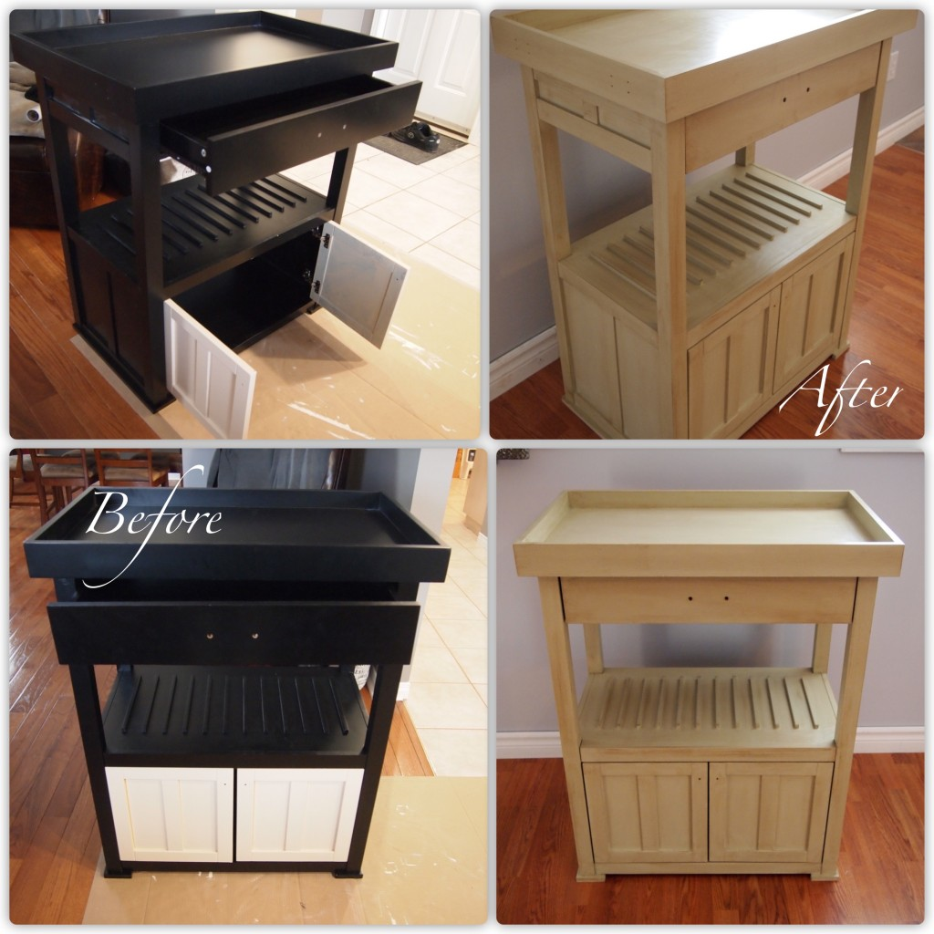 Bar Cart -  Before and After