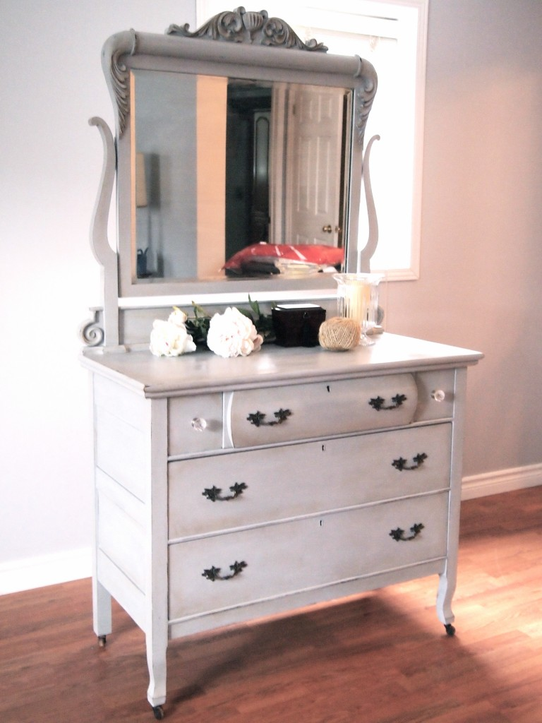 Beautiful Antique Dresser & Mirror - SOLD