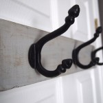 Reclaimed Wood Hook Rack - SOLD