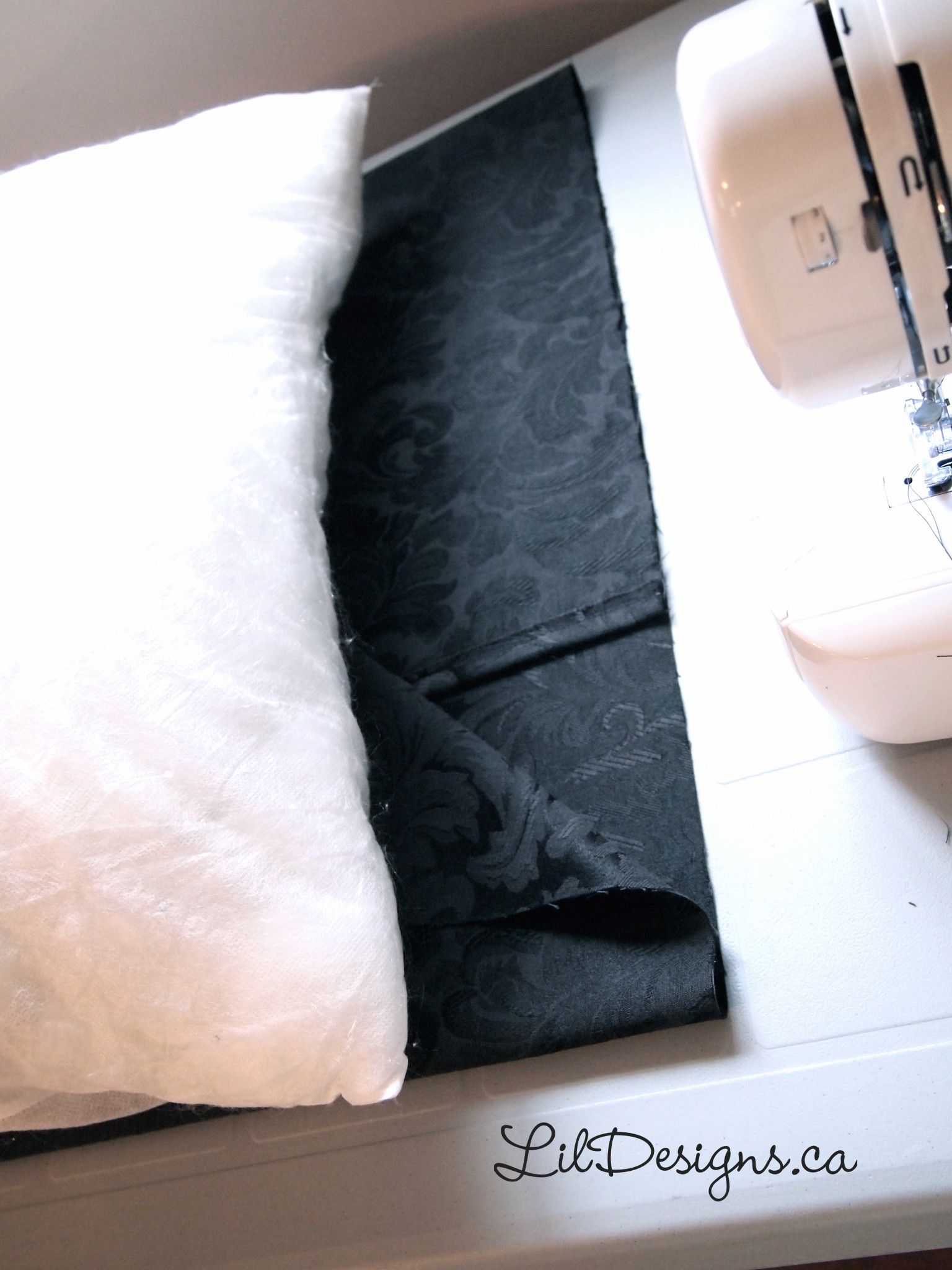 how to make a fold over pillow case