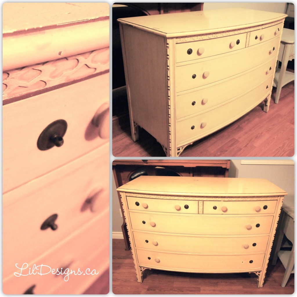 Paris Grey Dresser - Before