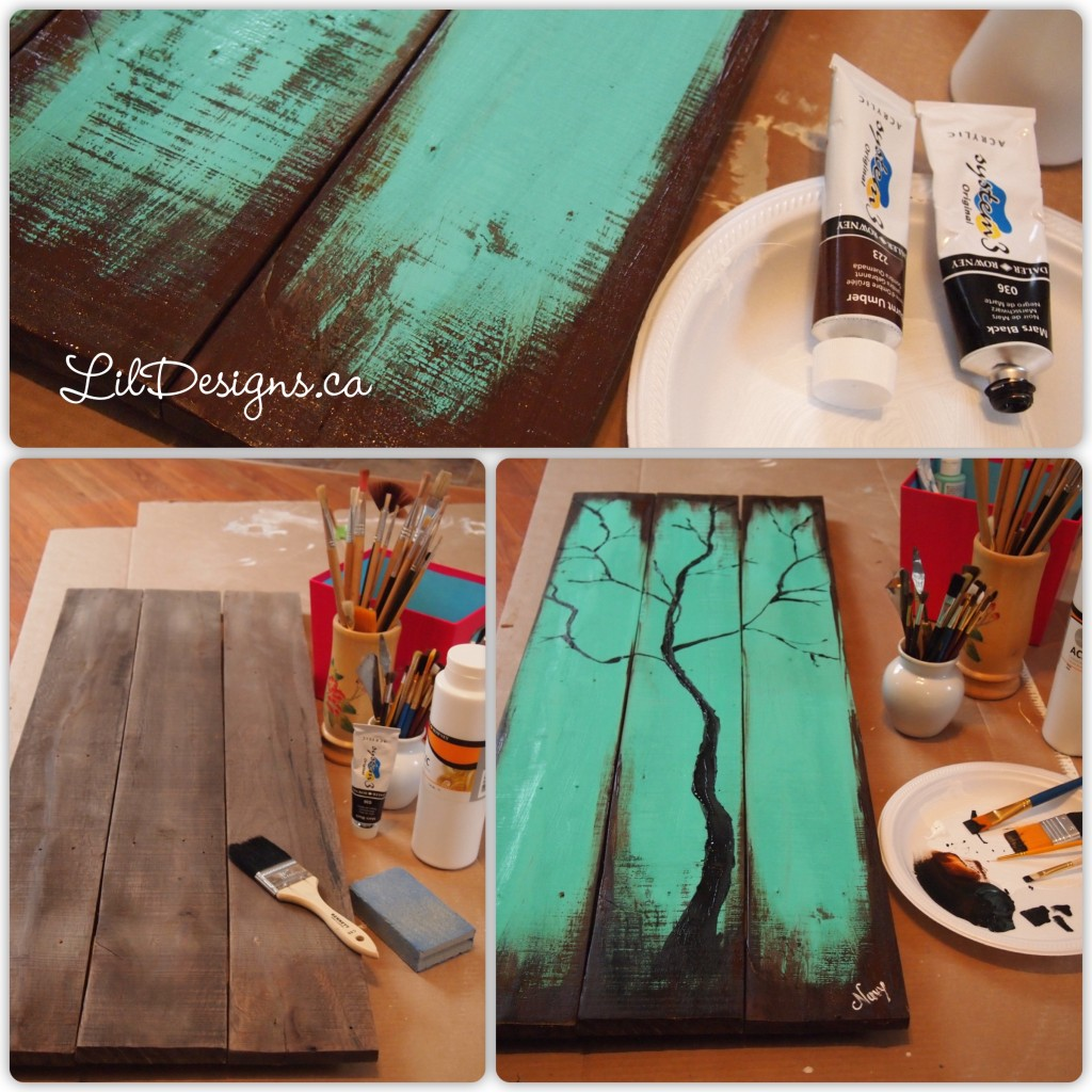 Reclaimed Wood Painting 2